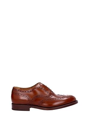 Green George Lace up and Monkstrap Men Leather Brown