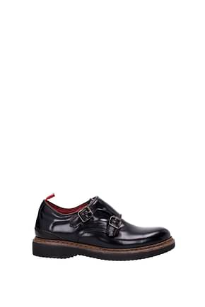 Green George Lace up and Monkstrap Women Leather Black