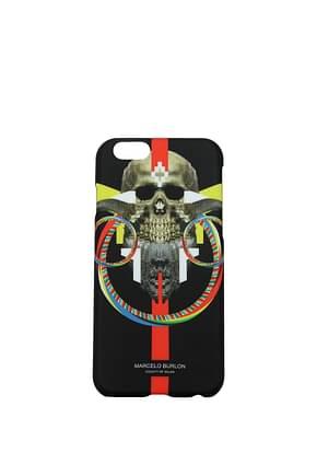 Marcelo Burlon Porta iPhone Uomo Plastica Nero
