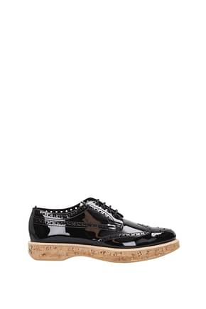 Church's Lace up and Monkstrap Women Patent Leather Black