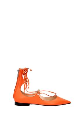 Pinko Sandalen Damen Leder Orange