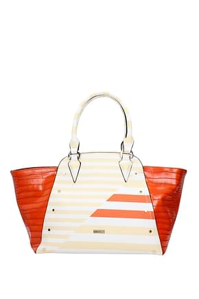 Pinko Handbags Women Polyurethane Orange