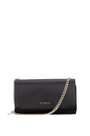 Furla Wallets Women Leather Black