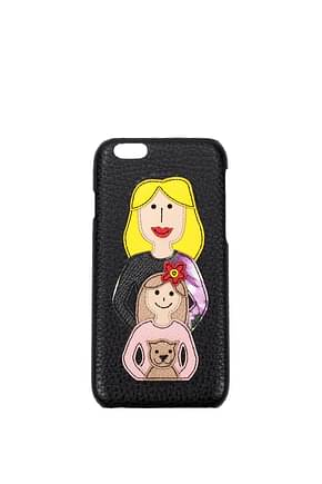Dolce&Gabbana iPhone cover Women Leather Black