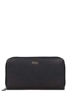 Salvatore Ferragamo Wallets Men Leather Black