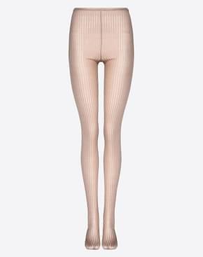 Valentino Calcetines Mujer Seda Marrón