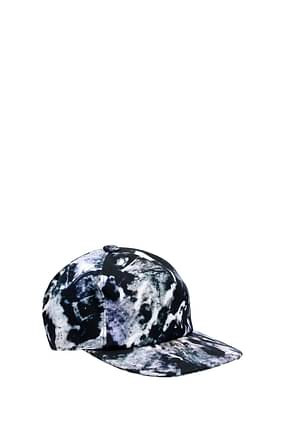 MSGM Hats Men Cotton Black