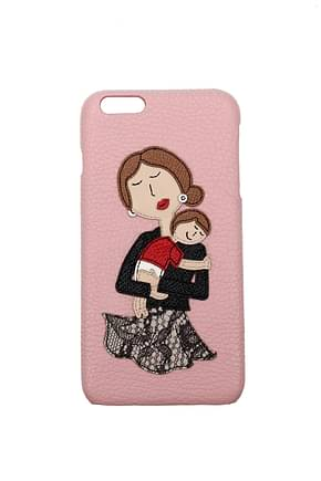 Dolce&Gabbana iPhone cover Women Leather Pink
