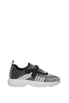 Prada Sneakers Women Fabric  Black White