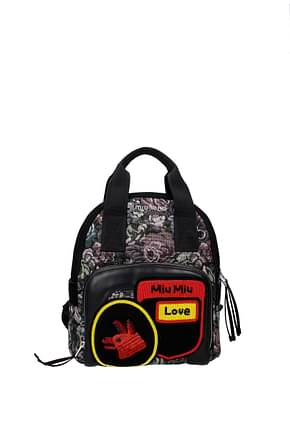 Miu Miu Backpacks and bumbags Women Fabric  Multicolor