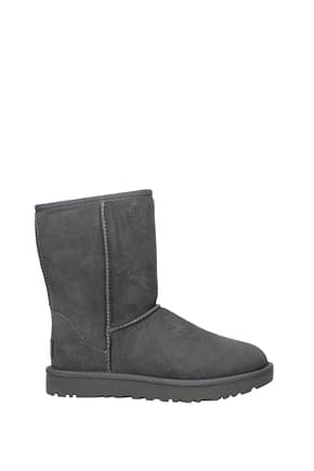UGG Ankle boots water resistant classic short II Women Suede Gray