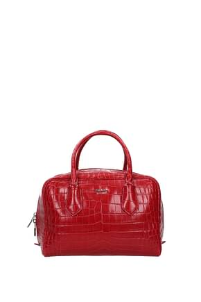 Prada Handbags Women Leather Crocodile Red