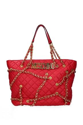 Moschino Shoulder bags Women Leather Red