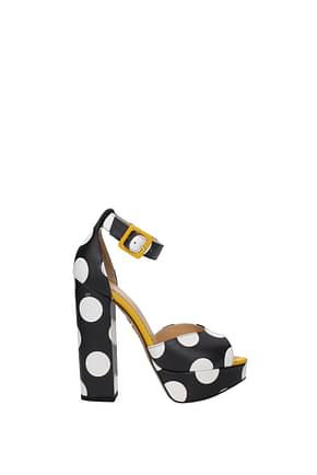 Charlotte Olympia Sandals Women Leather Black