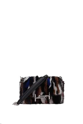 Tod's Shoulder bags Women Viscose Multicolor