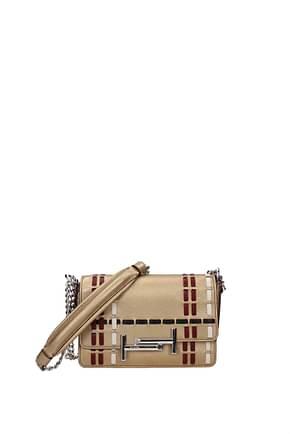 Tod's Crossbody Bag Women Leather Gold