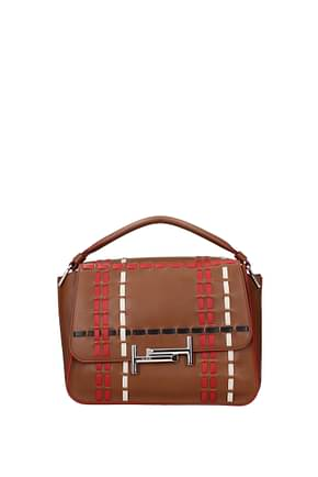 Tod's Handbags Women Leather Brown