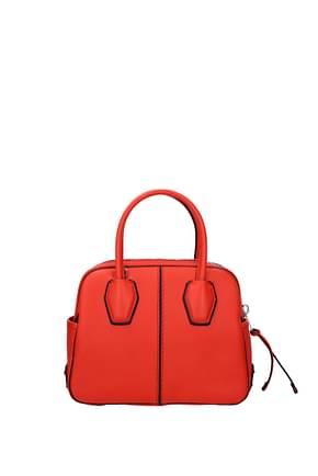 Tod's Handbags Women Leather Orange