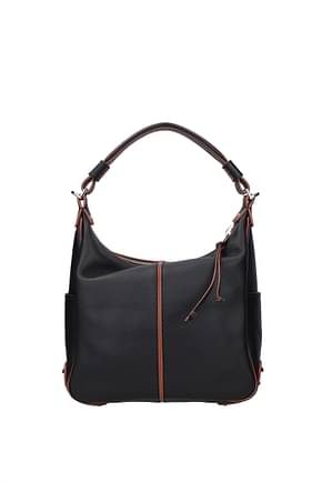 Tod's Shoulder bags Women Leather Black