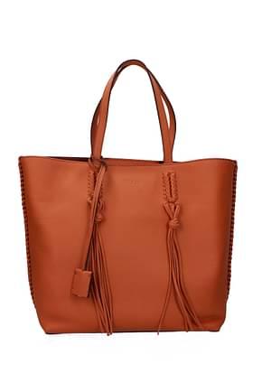 Tod's Shoulder bags Women Leather Orange