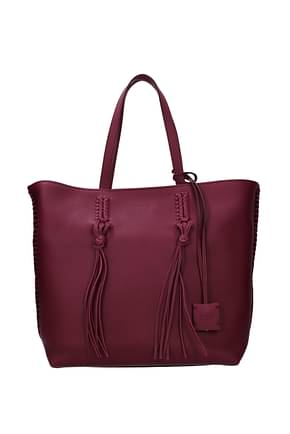 Tod's Shoulder bags Women Leather Violet