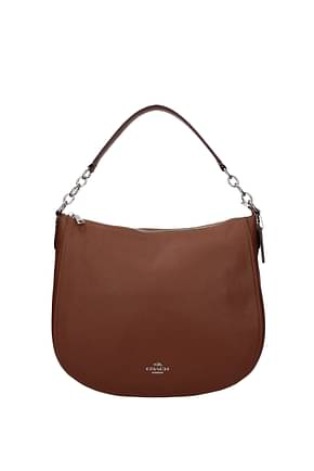 Coach Handbags chelsea Women Leather Brown