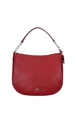 Coach Handbags chelsea Women Leather Red