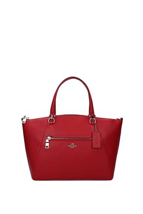 Coach Handbags Women Leather Red Bright Red
