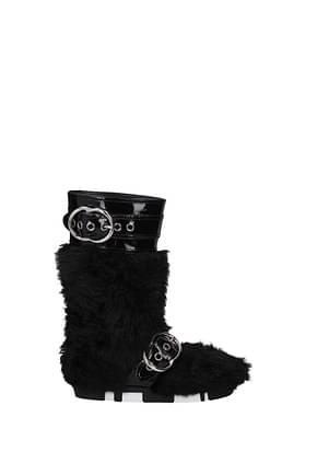 Miu Miu Boots Women Eco Fur Black