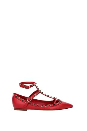 Valentino Garavani Sandals Women Leather Red