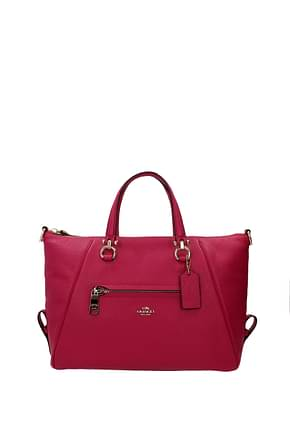 Coach Handbags primrose Women Leather Fuchsia