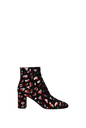 Saint Laurent Ankle boots Women Fabric  Gray