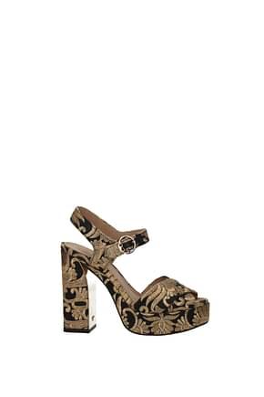Tory Burch Sandals loretta Women Fabric  Gold