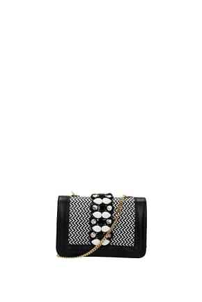 Gedebe Crossbody Bag Women Leather Black