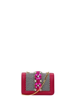 Gedebe Crossbody Bag Women Leather Fuchsia