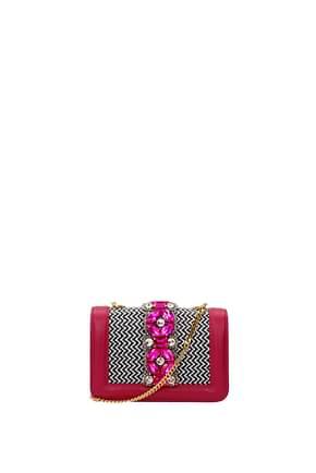 Gedebe Crossbody Bag Women Leather Fuchsia