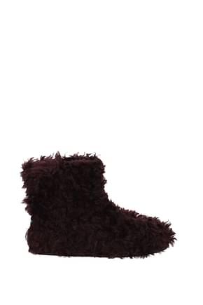 Miu Miu Ankle boots Women Eco Fur Red
