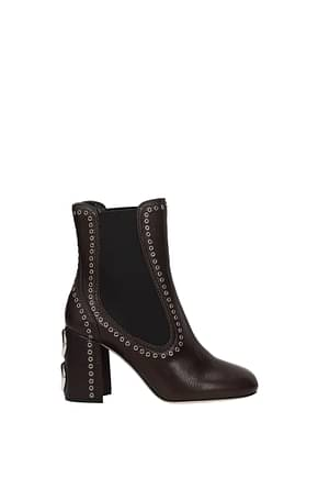 Miu Miu Ankle boots Women Leather Brown