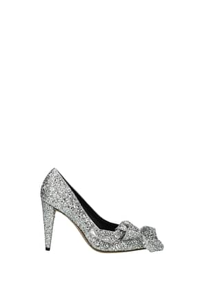 Isabel Marant Pumps poetty Damen Glitter Silber