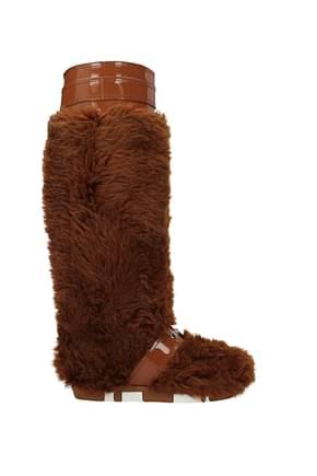 Miu Miu Boots Women Eco Fur Brown