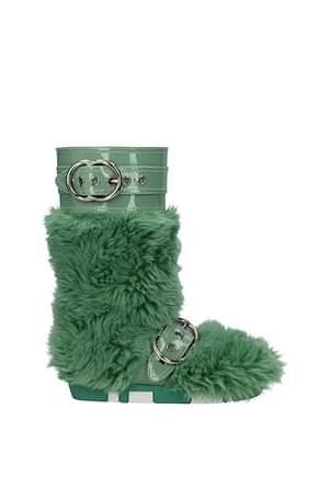 Miu Miu Boots Women Eco Fur Green