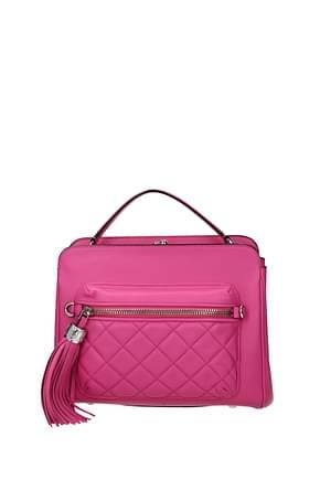 Moschino Handtaschen Damen Leder Rosa
