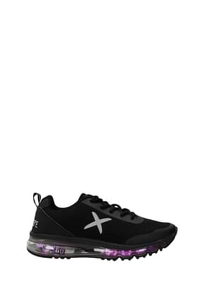 Wize and Ope Sneakers led shoes x-run Homme Tissu Noir