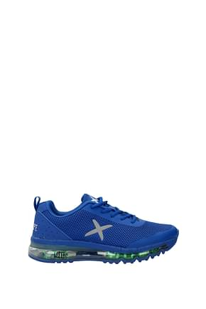 Wize and Ope Sneakers led shoes x-run Homme Tissu Bleu