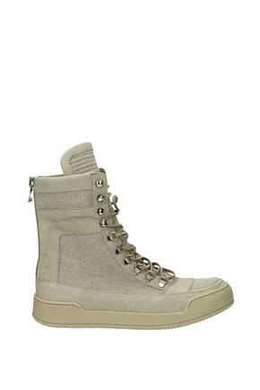 Balmain Sneakers Men Fabric  Beige