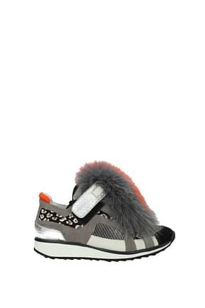 Pierre Hardy Sneakers Damen Wildleder Mehrfarben