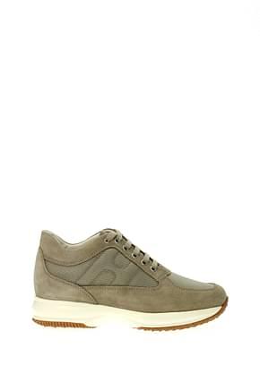 Hogan Sneakers Men Fabric  Beige