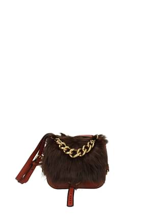 Miu Miu Handbags Women Leather Orange