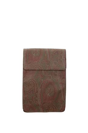Etro Idee regalo shirt and tie case Uomo Tessuto Marrone