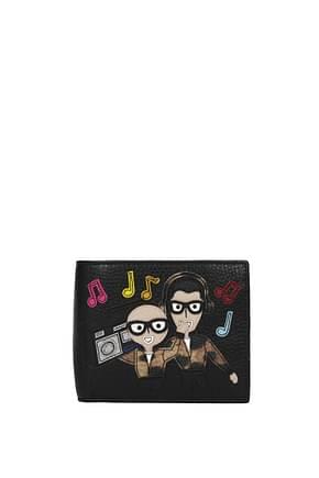 Portafogli Dolce&Gabbana patch d&g family Uomo